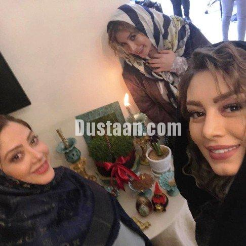 www.dustaan.com ظاهر متفاوت سحر قریشی و فریبا نادری با مو های فر +تصاویر