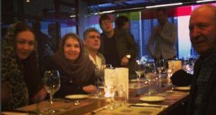نیکی کریمی کنار پدر و مادرش در استانبول +عکس