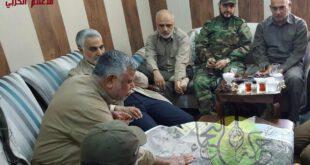 تصاویری از حضور سردار سلیمانی در اتاق عملیات بازپس گیری فلوجه