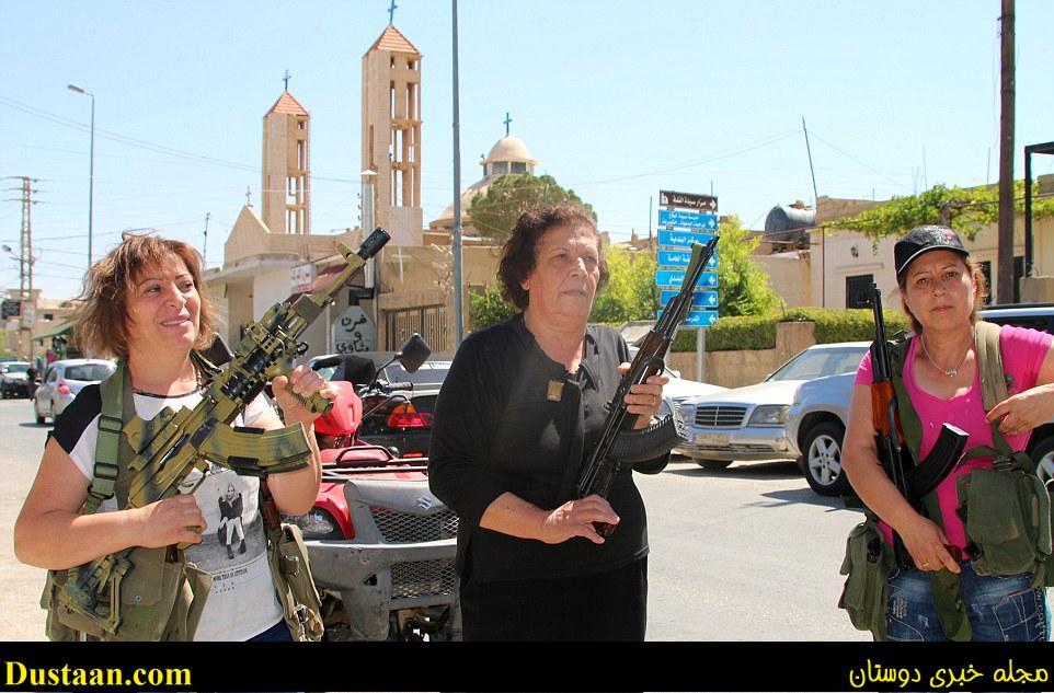 زنان مسیحی لبنان برای مبارزه با داعش اسلحه به دست شدند +تصاویر