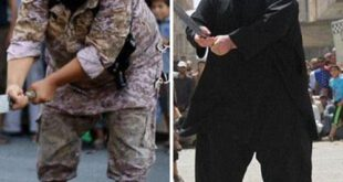 جلاد جدید داعش/ این تروریست چاق با شمشیر به قربانیان حمله میکند + تصاویر