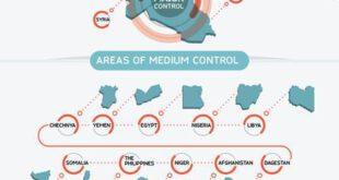 عناصر داعش در کدام کشورها حضور دارند؟ +نقشه