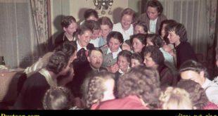 آدولف هیتلر در حلقه محاصره زنان و دختران المانی! +عکس