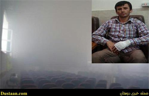 www.dustaan.com ۲ معلم فداکار فاروجی جان ۵۰ دانش اموز را از اتش سوزی نجات دادند