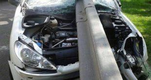 تصادف بسیار شدید ۲۰۶ در تهران +عکس