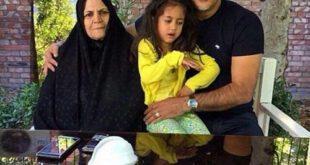 عکسی جالب از علی دایی در کنار مادر و دخترش