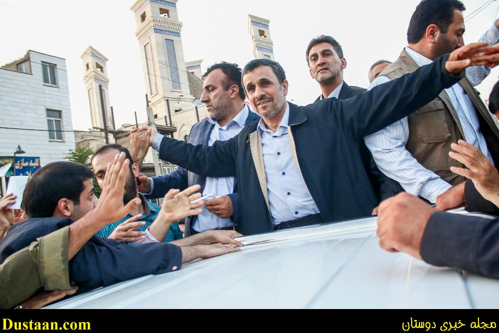 www.dustaan.com درگیری مخالفان و موافقان احمدی نژاد در ملارد +فیلم