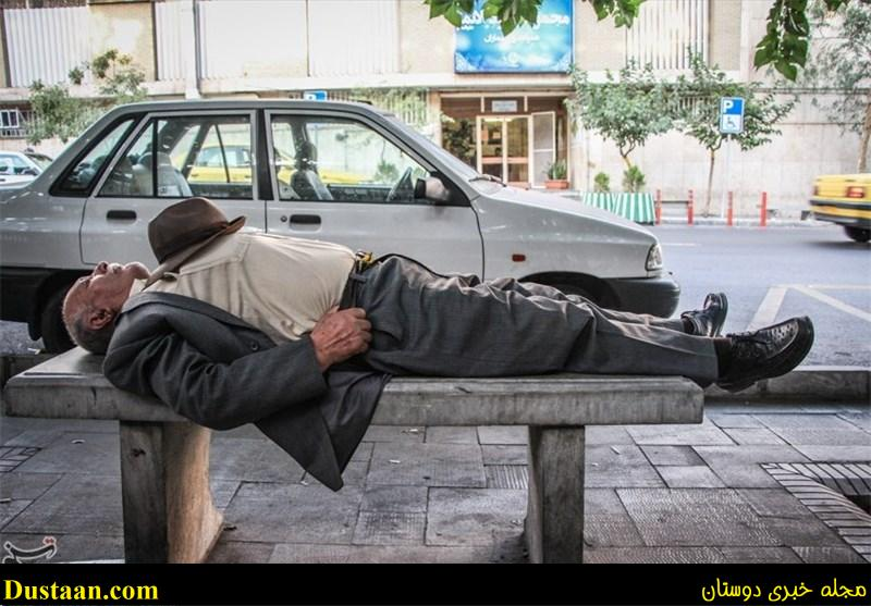 www.dustaan.com آرامش عجیب این مرد در خیابان! +عکس