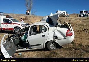مرگ ۳ نفر در تصادف وحشتناک تیبا با کامیون