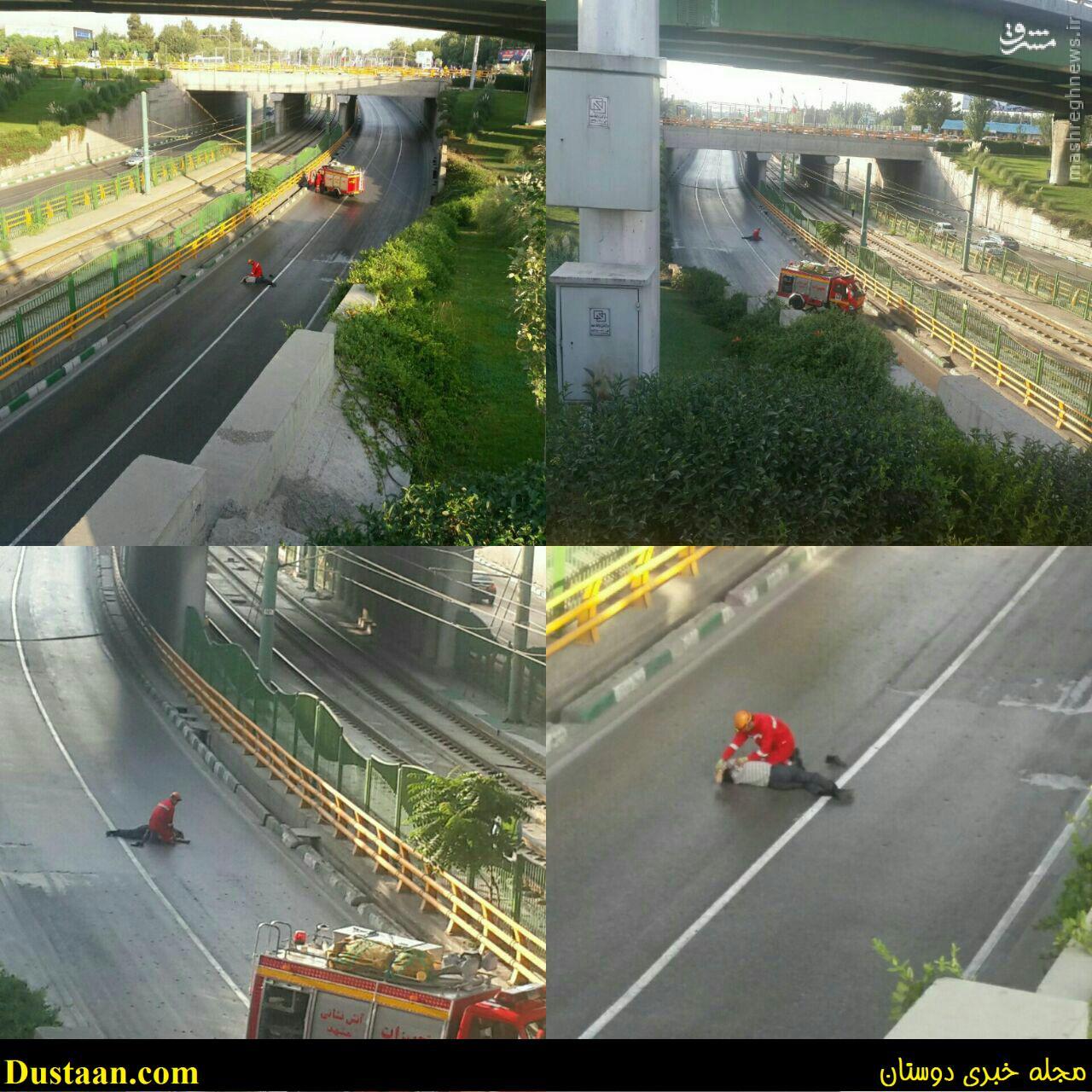 www.dustaan.com خودکشی مرد میانسال در میدان آزادی مشهد +تصاویر