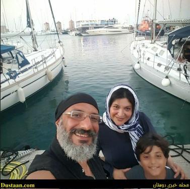 www.dustaan.com سلفی امیر جعغری و ریما رامین فر در سواحل اروپا