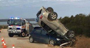 تصادف عجیب دو خودرو در استرالیا +عکس