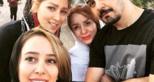 سلفی جالب الناز حبیبی در کنار خانواده +عکس