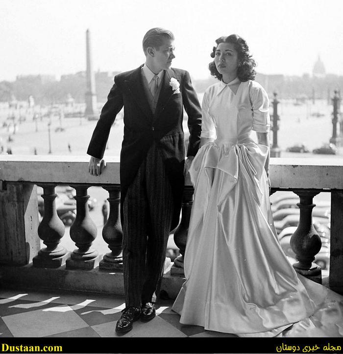 تصاویر ازدواج جنجالی دختر رضاشاه با یک امریکایی