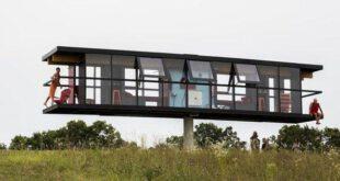 تصاویر : خانه ای عجیب که در باد میرقصد!