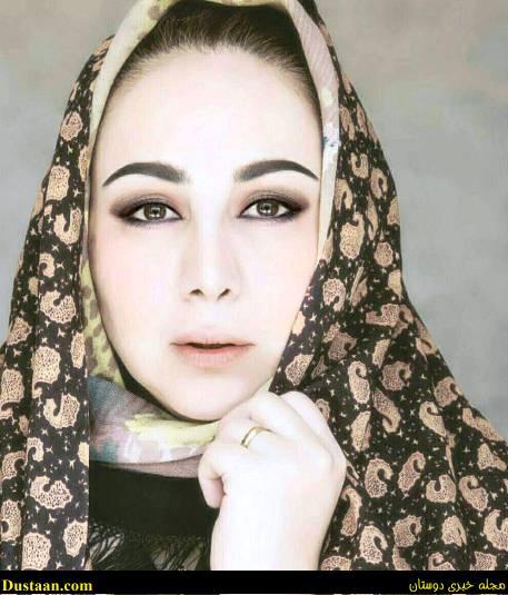 www.dustaan.com تیپ جالب بهنوش بختیاری با چادر! +عکس