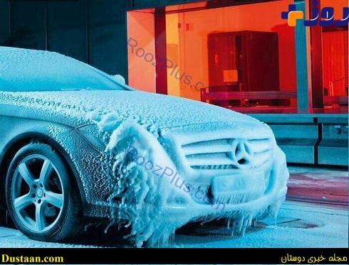 www.dustaan.com تست خودروی بنز در دمای منهای۴۰ درجه +عکس