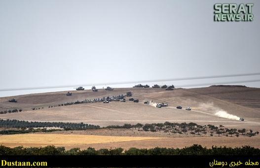 ورود تانکها و نیروهای ترکیه به سوریه +تصاویر