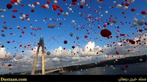 تصاویر: افتتاح بزرگترین پل معلق جهان در ترکیه