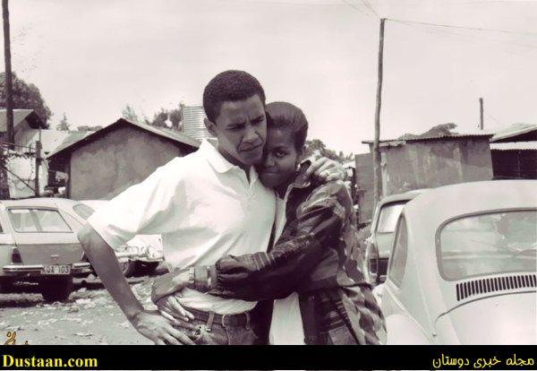 تصاویری جالب از عشق باراک اوباما به همسرش میشل!