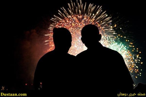 www.dustaan.com تصاویری جالب از عشق باراک اوباما به همسرش میشل!