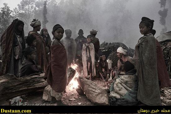 قبیله انسان های اولیه در نپال/ اینجا مرده ها را ایستاده دفن می کنند! +تصاویر