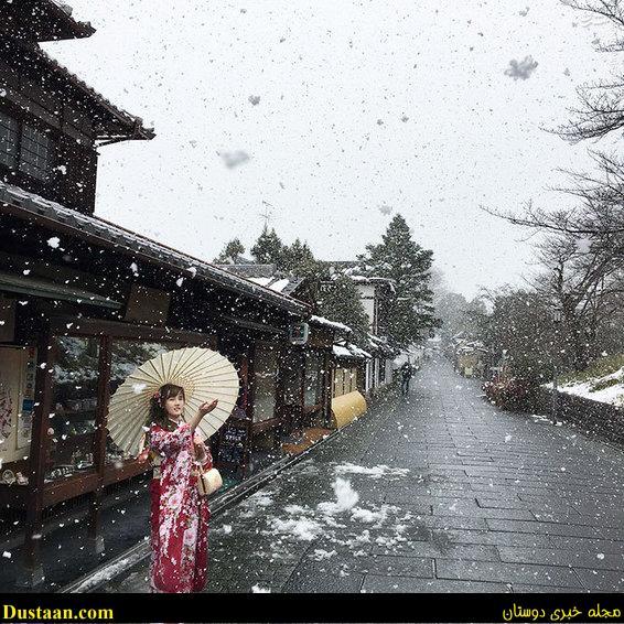 زیبایی های کیوتو در زمستان +تصاویر