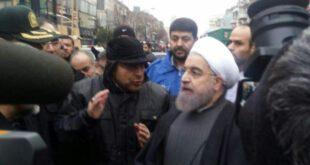 تصاویر: حسن روحانی در محل حادثه پلاسکو