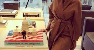 ایوانکا ترامپ در کنار کیک پدر!