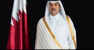 پیام تسلیت امیر قطر به حسن روحانی در پی حادثه پلاسکو