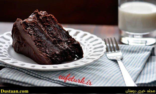 www.dustaan.com دستور تهیه کیک شکلاتی خیس؛ خوشمزه و عالی!