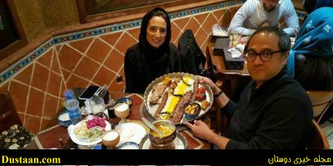 www.dustaan.com رامبد جوان و همسرش، نگار جواهریان در رستوران