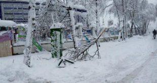 رشت با بارش چند ساعته زیر برف دفن شد +تصاویر