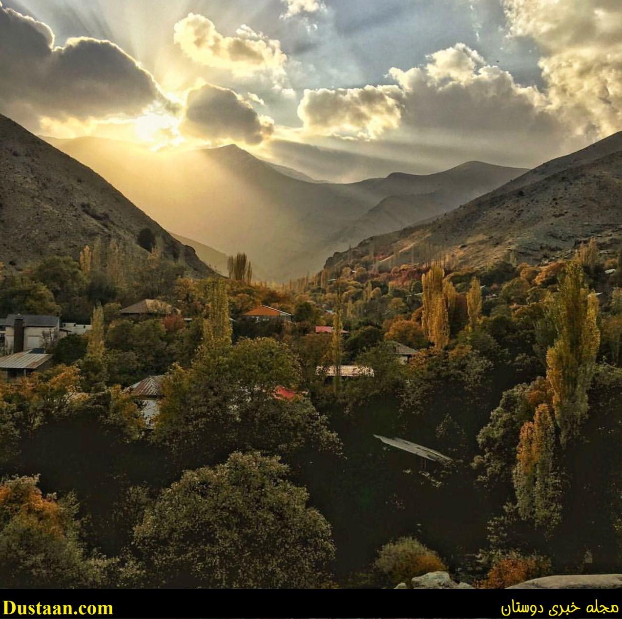 www.dustaan.com تصویری بسیار زیبا از طلوع خورشید در شمیران تهران