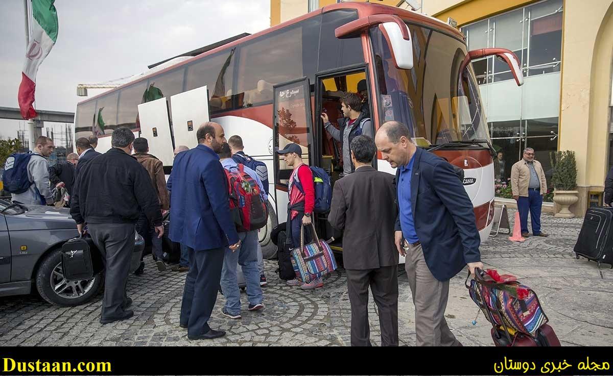 تصاویر : لحظه ورود کشتی گیران آمریکایی به کرمانشاه