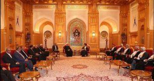 تصاویر: حسن روحانی در قصر سلطان قابوس