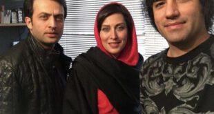 رضا یزدانی و مهتاب کرامتی در کنار بازیگر شهرزاد