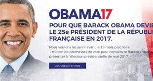 درخواست مردم فرانسه از اوباما؛ رئیس جمهور ما باش! +عکس