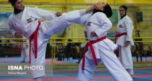 گزارش تصویری: رقابت های انتخابی تیم ملی کاراته بانوان