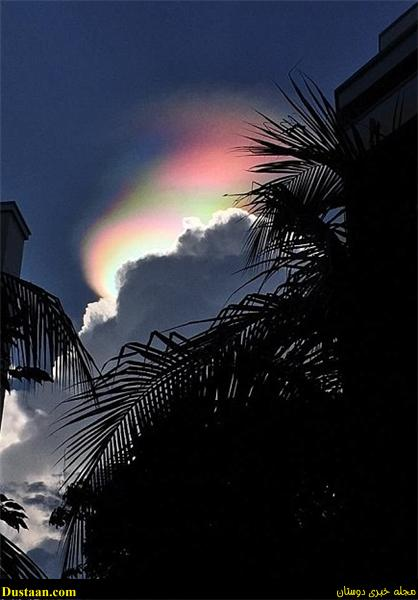 www.dustaan.com تصاویر: پدیده ای شگفت انگیز در آسمان سنگاپور