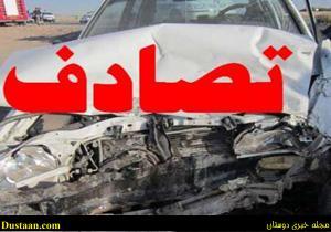 www.dustaan.com مرگ تلخ ۴ دانش آموز نیک شهری در حادثه رانندگی