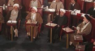 عکس: حسن روحانی در اجلاسیه خبرگان