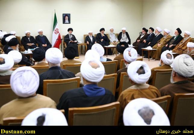 www.dustaan.com تصاویر: دیدار رئیس و اعضای مجلس خبرگان با رهبر انقلاب