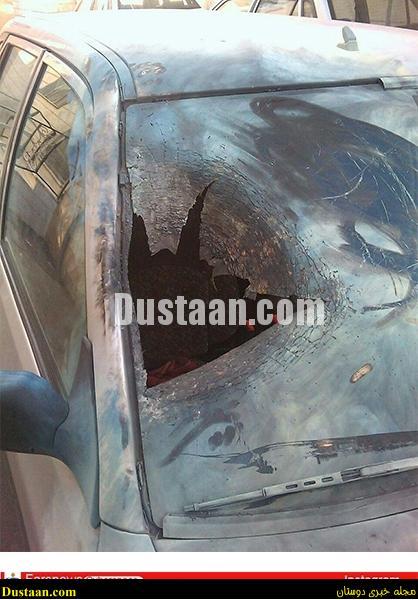 www.dustaan.com-dustaan.com-اصابت نارنجک به خودروی پراید