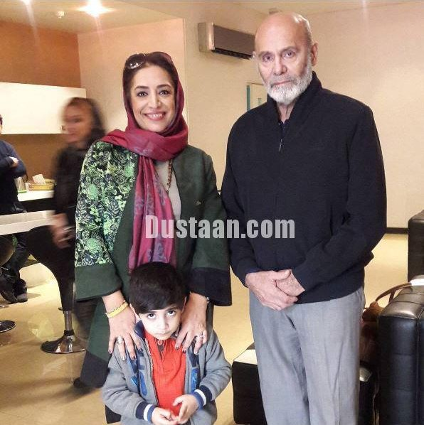 www.dustaan.com ساناز سماواتی و فرزندش در کنار جمشید هاشم پور +عکس