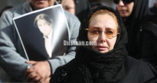 کتایون ریاحی در مراسم تشییع پیکر مرحوم یدالهی