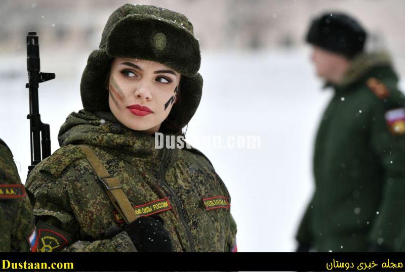 www.dustaan.com عکس: زیباترین سرباز زن ارتش روسیه