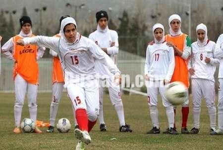 www.dustaan.com برتری دختران فوتبالیست ایران برابر قزاقستان