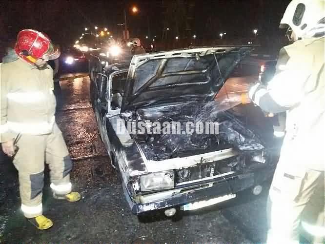 آتش گرفتن پیکان وانت در نیشابور 3 کشته برجای گذاشت