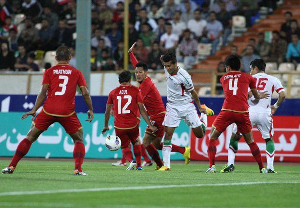 www.dustaan.com  فیلم  گلهای ایران برابر تایلند با درخشش لژیونرها + جدول